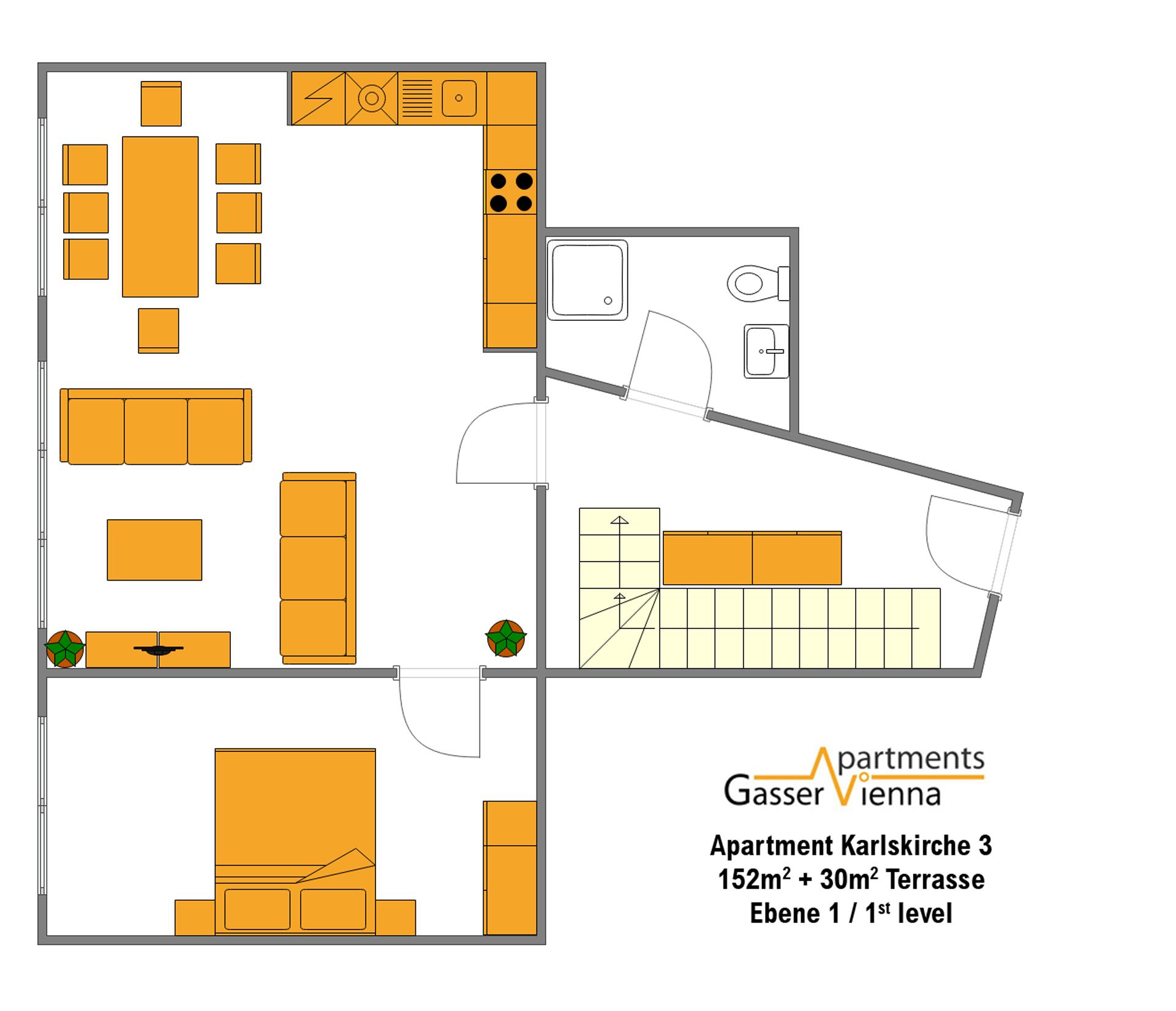 "Vienna Park Apartments: ""Apartment Karlskirche 2"